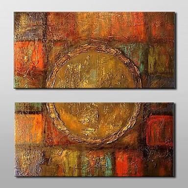 Hang-Ölgemälde Handgemalte - Abstrakt Klassisch Traditionell Segeltuch