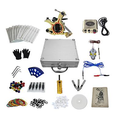 Tätowiermaschine Professionelles Tattoo Kit - 1 pcs Tattoo-Maschinen, Professionell Mini Stromversorgung Aufbewahrungshülle inklusive 1 x-Legierung Tattoo Maschine für Futter und Schattierung