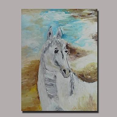 manual pictura in ulei cal pictat cu cadru întins gata să stea