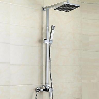 Shower Faucet - Contemporary Modern Chrome Shower System Ceramic Valve