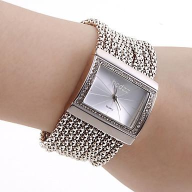 baratos Relógios de Luxo Senhora-Mulheres senhoras Relógios Luxuosos Bracele Relógio Relógio Quadrado Japanês Quartzo Cobre Prata Relógio Casual Analógico Luxo Brilhante Fashion Elegante - Prata Um ano Ciclo de Vida da Bateria