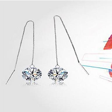 Pentru femei Cercei Picătură Iubire Inimă Modă Plastic Cristal Inimă Bijuterii Alb Nuntă Petrecere Zilnic Costum de bijuterii