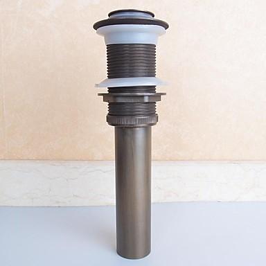 Wasserhahn Zubehör - Gehobene Qualität - Antike Messing Pop-up-Wasserablauf ohne Überlauf - Fertig - Antikes Kupfer