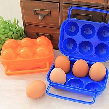Пластиковая, портативная коробка для яиц, с 12 отверстиями, 20x19.5x7cm