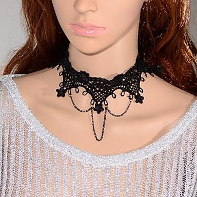 Damen Halsketten / Kragen / Statement Ketten - Spitze Retro, Gothic, Modisch Modische Halsketten Schmuck Für Hochzeit, Party / Vintage Halskette / Vintage Halskette