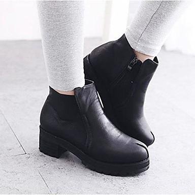 femme chaussures cuir verni automne hiver gros talon bottine demi botte pour habill soir e. Black Bedroom Furniture Sets. Home Design Ideas