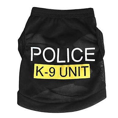 Katze Hund T-shirt Hundekleidung Polizei / Militär Schwarz Blau Rosa Terylen Kostüm Für Haustiere Herrn Damen Niedlich Modisch