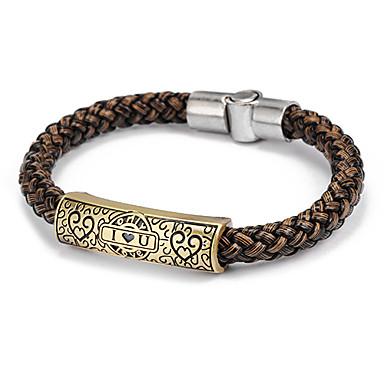 Lederen armbanden - Leder Liefde Armbanden Zwart / Bruin Voor Dagelijks / Causaal