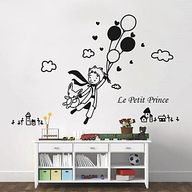 cartoon people fantasy wall stickers plane wall stickers decorative wall stickers material. Black Bedroom Furniture Sets. Home Design Ideas