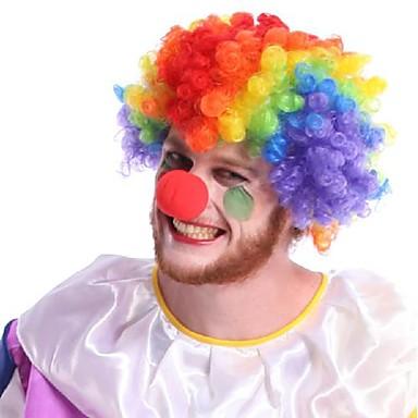 Клоун Косплэй парики Универсальные Фестиваль / праздник Костюмы на Хэллоуин Хэллоуин Контрастных цветов
