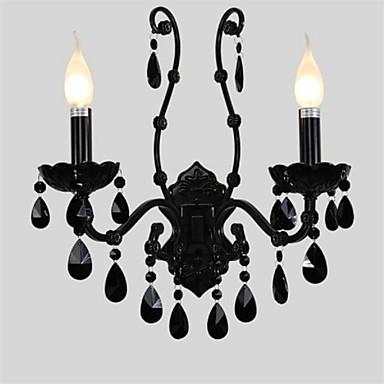 Black crystal wall lamp