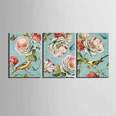 Canvastaulu vuosikerta eläin linnut ja kukka sarja 3 1301-0231