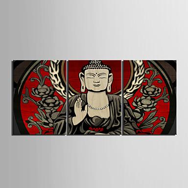 Lærredstryk Art Buddha Set of 3