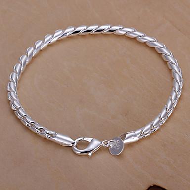 Damskie Wąż Bransoletki i łańcuszki na rękę - Łańcuch Circle Shape Geometric Shape Silver Bransoletki Na Prezenty bożonarodzeniowe Ślub