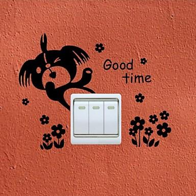 Animale Perete Postituri Autocolante perete plane Autocolante Întrerupătoare,Vinil Pagina de decorare de perete Decal Perete