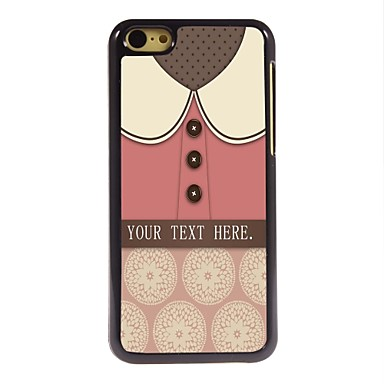 cadou personalizat caz minunat de metal de design tricou roz pentru iPhone 5c