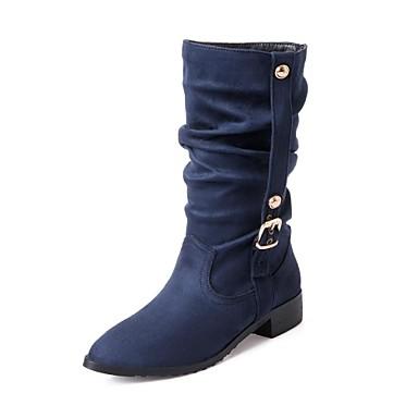 Pentru femei Pantofi Imitație de Piele Iarnă Primăvară Toc Îndesat 10