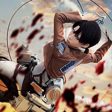Inspiriert von Attack on Titan Levy Anime Cosplay Kostüme Cosplay Kostüme Solide Langarm Krawatte Mantel Hemd Hosen Umhang Gürtel Taille