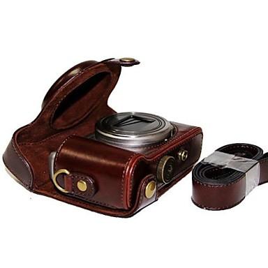 piele dengpin® aparat de fotografiat capacul de protecție caz geanta cu curea de umăr pentru Sony DSC-hx50v hx60 hx50 HX30 hx10 LCJ-hn