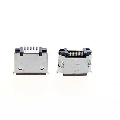 micro usb 5-polig hona socket kontakt - silver (5-piece pack)