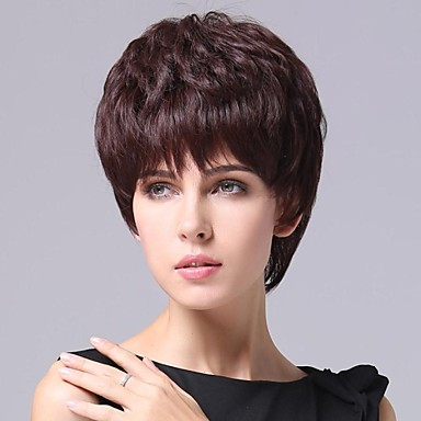 Pruik Golvend Dichtheid 100% handgebonden Afro-Amerikaanse pruik Natuurlijke haarlijn Dames Human Hair Capless Pruiken