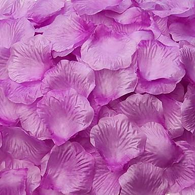 paarse rozenblaadjes tafeldecoratie (set van 100 blaadjes)