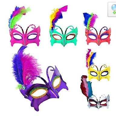 флэш пластик фантазии платье партии Хэллоуин маска (случайный цвет)
