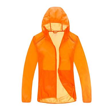 Herre Dame Unisex Trekking-jakke Udendørs Vandtæt Hurtigtørrende Vindtæt Ultraviolet Resistent Åndbart YKK Lynlås Transparent Vind Jakker