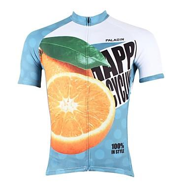 ILPALADINO Bărbați Manșon scurt Jerseu Cycling - Albastru Bicicletă Jerseu, Uscare rapidă, Rezistent la Ultraviolete, Respirabil