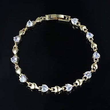 Pentru femei Zirconiu Cubic Manşetă 18K Placat cu Aur Bijuterii Pentru Nuntă Logodnă