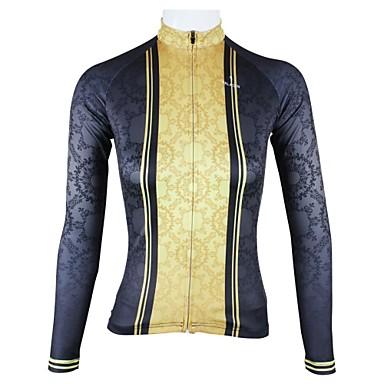 ILPALADINO Jerseu Cycling Pentru femei Manșon Lung Bicicletă Jerseu Topuri Îmbrăcăminte Ciclism Uscare rapidă Respirabil Peteci Ciclism /