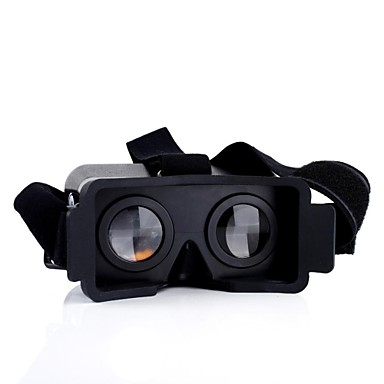 3D Briller Plast Gennemsigtig VR Virtual Reality Glasses Rund