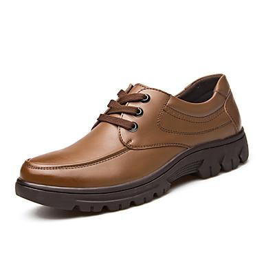 Pantofi barbati Birou & Carieră / Casual Piele Oxford Negru / Maro