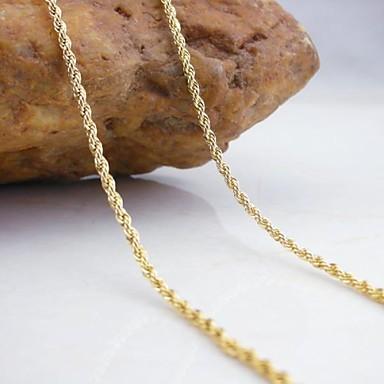 Жен. Ожерелья-цепочки - Золотой Ожерелье Назначение Свадьба, Для вечеринок, Повседневные