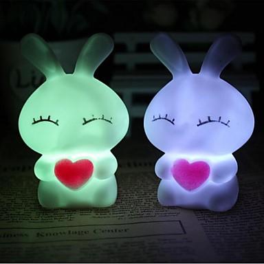 LED Night Light Waterbestendig Batterij Meerkleurig Acryl 1 Set Lampen Batterijen Inbegrepen 19.5*19.5*27.0cm