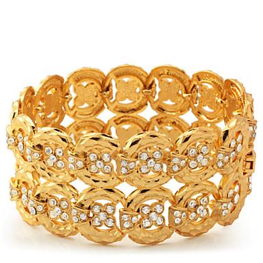 Damen Wickelarmbänder - Strass, Platiert, vergoldet Armbänder Für Normal