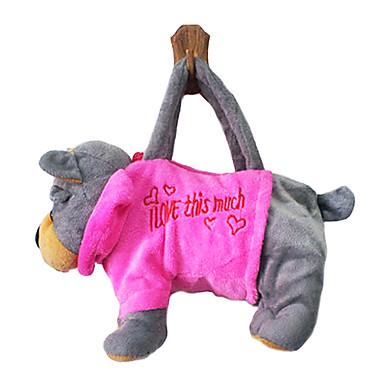 серый дизайн собака плюшевые игрушки мягкие руки мешок