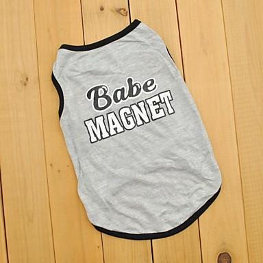 Kat Hond T-shirt Hondenkleding Cosplay Bruiloft Letter & Nummer Grijs Kostuum Voor huisdieren