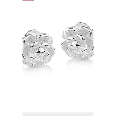 Women's Silver Stud Earrings With Quincunx