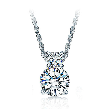 Women's Pendant Necklaces Sterling Silver Zircon Cubic Zirconia Fashion Luxury Jewelry For Special Occasion Birthday Gift