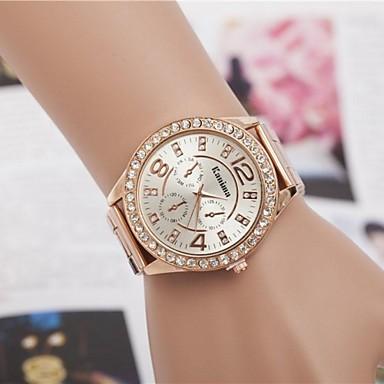 baratos Relógios de Luxo Senhora-Mulheres Relógios Luxuosos Relógio de Pulso Relógio de diamante Quartzo Prata / Dourada / Ouro Rose Analógico senhoras Brilhante Fashion - Prata Dourado Ouro Rose Um ano Ciclo de Vida da Bateria
