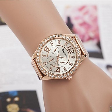 Women's Wrist Watch Quartz Silver / Gold / Rose Gold Analog Ladies Sparkle Fashion - Silver Golden Rose Gold One Year Battery Life / Jinli 377