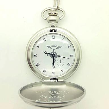 Hodiny / hodinky Inspirovaný Fullmetal Alchemist Edward Elric Anime Cosplay Doplňky Hodiny / hodinky Stříbro Stop Pánský