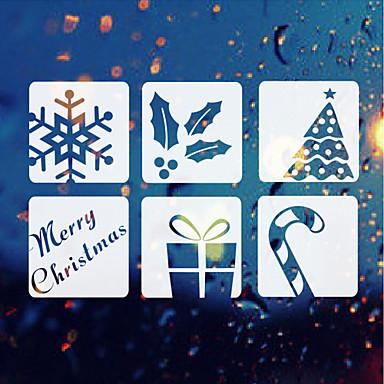 décoration de Noël stickers muraux vacances ornements cadeaux arbres fleurs