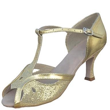 Латинской настроены женские сандалии настроены пятки шелк с молнией танцевальной обуви (больше цветов)