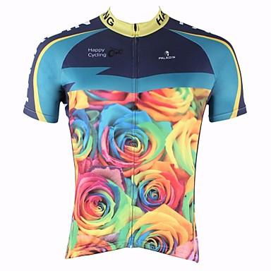 ILPALADINO Bărbați Manșon scurt Jerseu Cycling Bicicletă Uscare rapidă, Rezistent la Ultraviolete, Respirabil