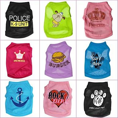 Кошка Собака Футболка Одежда для собак Мультипликация Радужный Костюм Для домашних животных