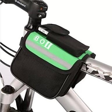 billige Sykkelvesker-BOI 8 L Mobilveske Vesker til sykkelramme Topprute Reflekterende Vanntett Sykkelveske polyester Sykkelveske Sykkelveske iPhone X / iPhone XR / iPhone XS Sykling / Sykkel
