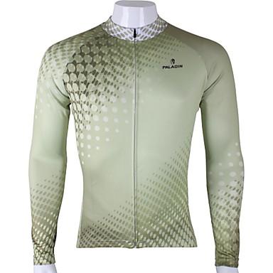 ILPALADINO Per uomo Manica lunga Maglia da ciclismo Tinta unica Bicicletta Maglietta / Maglia Top, Traspirante Asciugatura rapida Resistente ai raggi UV 100% poliestere