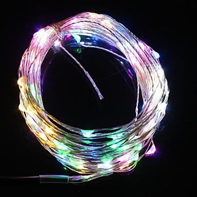 10м 9.6W 100-главе пяти цветовых свет Рождественские флэш-полоска света лампы (DC 12V, медный кабель)